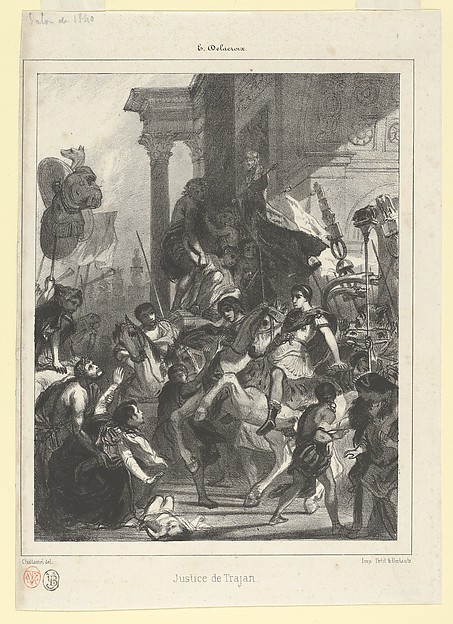 The Justice of Trajan, plate for l'Album des Salons