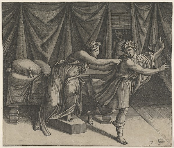 Joseph fleeing from Potiphar's wife