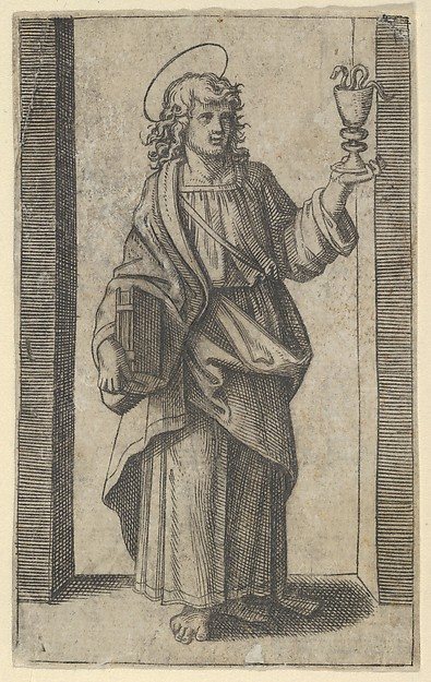 Saint John, book in right hand chalice in left, from the series 'Piccoli Santi' (Small Saints)