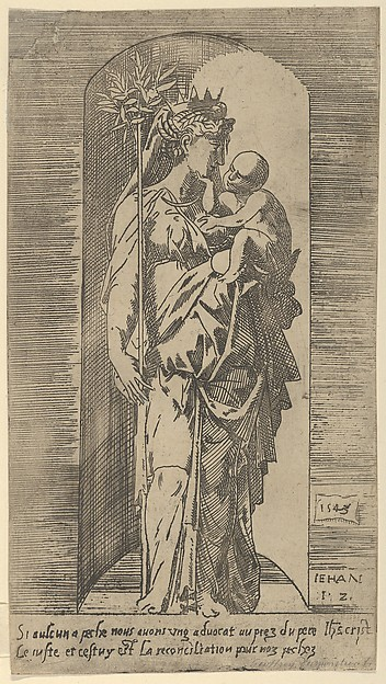 Fascinating Historical Picture of Geoffroy Dumotier with The Virgin and Child in a Niche in 1543
