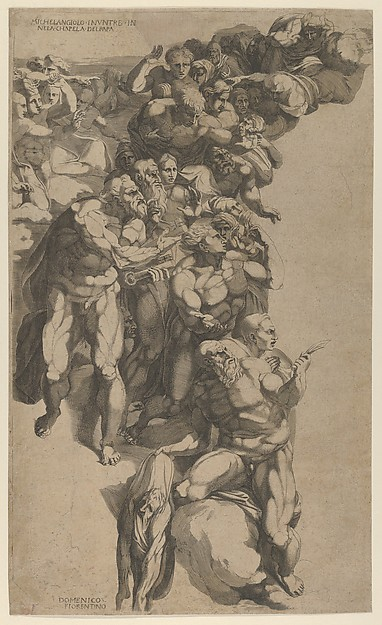 Group from Last Judgment, St. Bartholomew, St. Peter, and other Apostles