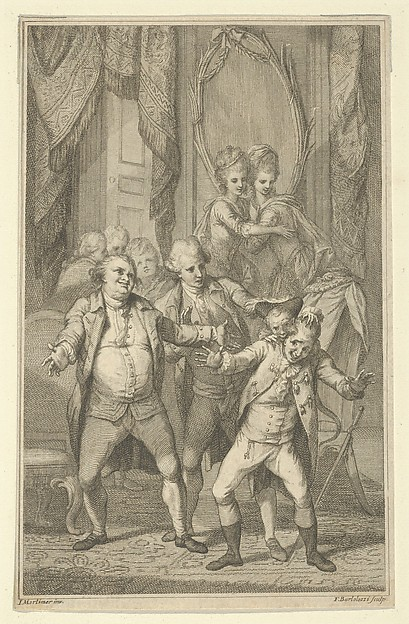 This is What Francesco Bartolozzi and Frontispiece for Fanny Burneys Evelina| Mr. Lovel Bitten in the Ear by Captain Mirvans Monkey v Looked Like  on 11/15/2