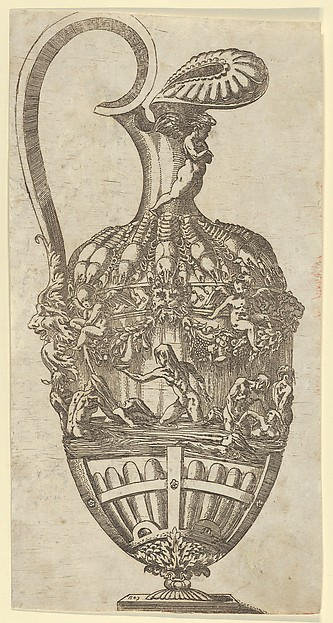 Fascinating Historical Picture of Antonio Fantuzzi with Vase in 1543