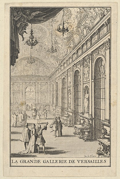 Fascinating Historical Picture of Sbastien Leclerc I with Galerie des Glaces at Versailles in 1684