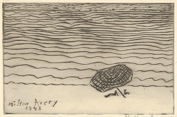 Umbrella by the Sea