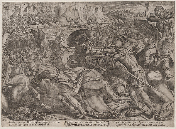 Fascinating Historical Picture of Antonio Tempesta with Plate 10| The Fall of Jericho from The Battles of the Old Testament in 1590