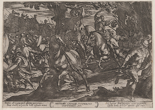 Fascinating Historical Picture of Antonio Tempesta with Plate 19| Jacob Killing Absalom from The Battles of the Old Testament in 1590