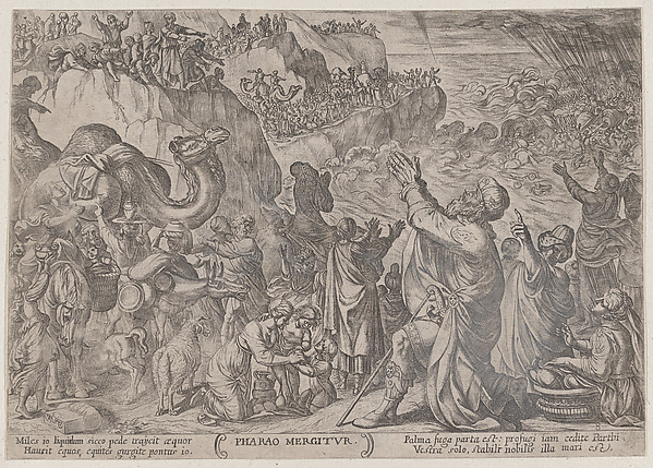 Fascinating Historical Picture of Antonio Tempesta with Plate 8| The Egyptians Drowning in the Red Sea from The Battles of the Old Testament in 1590