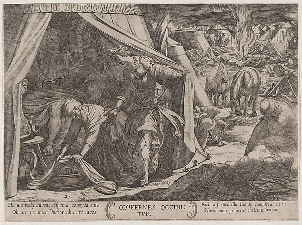 Fascinating Historical Picture of Antonio Tempesta with Plate 23| Judith and Holofernes from The Battles of the Old Testament in 1590