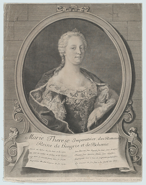 Fascinating Historical Picture of Johann Christoph Reinsperger with Portrait of Marie-Thrse in 1747