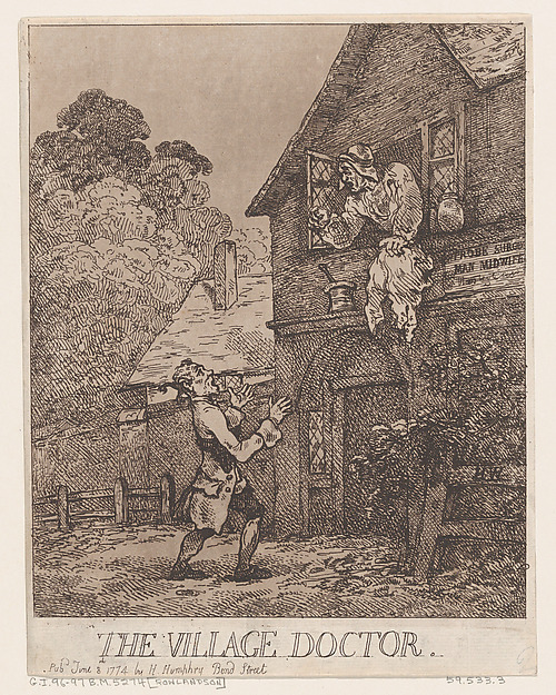 Fascinating Historical Picture of Thomas Rowlandson with The Village Doctor on 6/8/1774