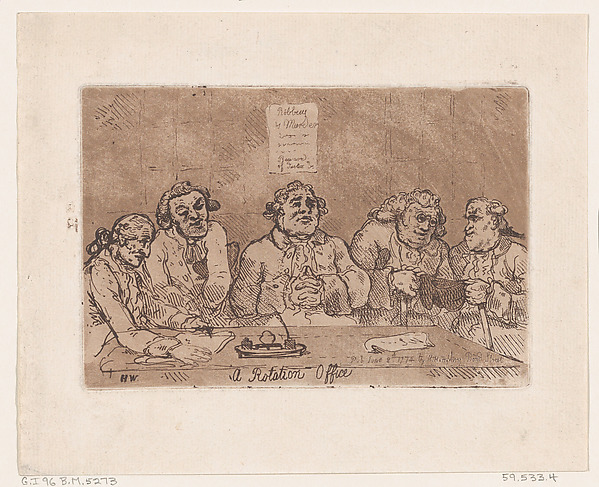 This is What Thomas Rowlandson and A Rotation Office Looked Like  on 6/8/1774