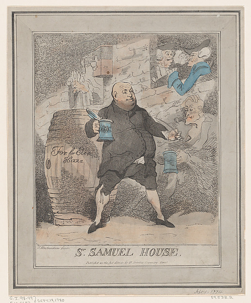 Fascinating Historical Picture of Thomas Rowlandson with Sir Samuel House on 9/18/1780