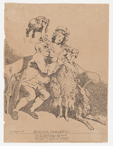 Fascinating Historical Picture of Thomas Rowlandson with Special Pleading on 3/15/1780
