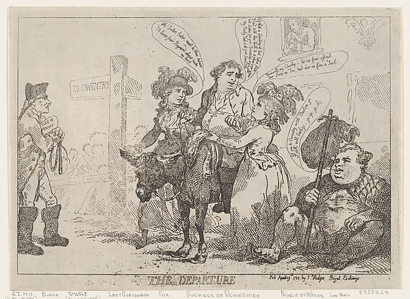 Fascinating Historical Picture of Thomas Rowlandson with The Departure on 4/29/1784