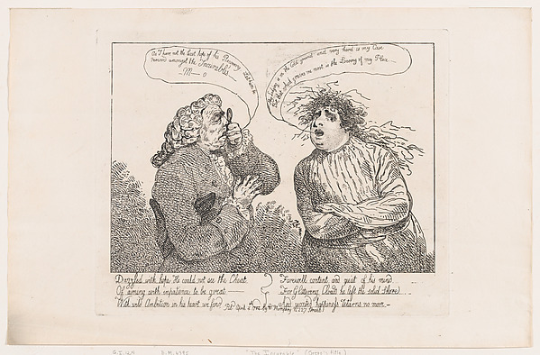 Fascinating Historical Picture of Thomas Rowlandson with The Incurable on 4/4/1784