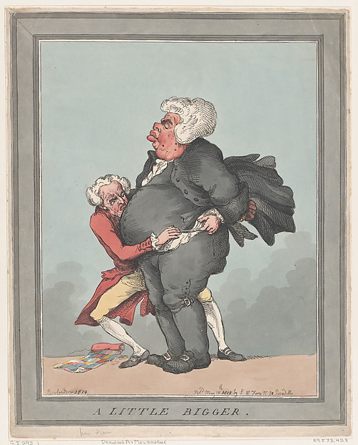 Fascinating Historical Picture of Thomas Rowlandson with A Little Bigger on 5/18/1819