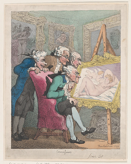 Fascinating Historical Picture of Thomas Rowlandson with Connoisseurs on 6/20/1799