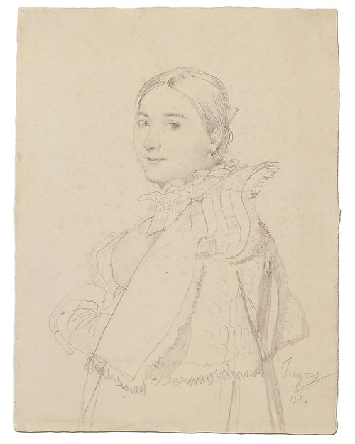 Portrait of Madame Ingres, née Madeleine Chapelle