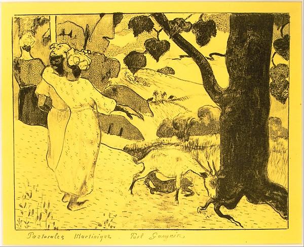 Martinique Pastorals, from the Volpini Suite:  Dessins lithographiques