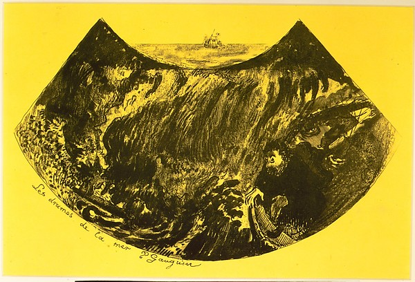 Fascinating Historical Picture of Paul Gauguin with The Drama of the Sea from the Volpini Suite| Dessins lithographiques in 1889