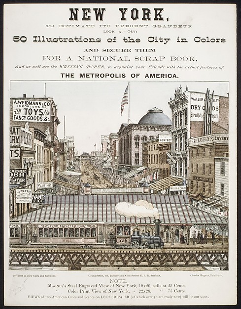 New York, to Estimate its Present Grandeur Look at our 50 Illustrations of the City in Color...and acquaint your Friends with the actual features of the Metropolis of America.
