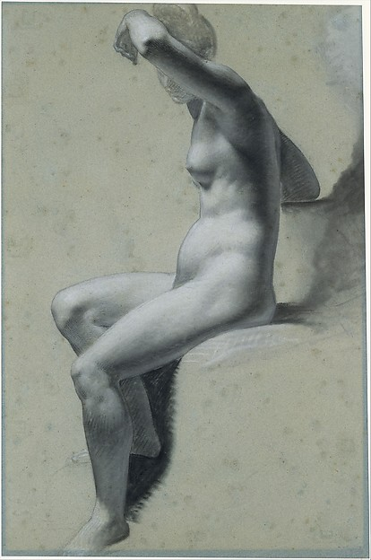 Seated Female Nude (recto); Standing Male Nude (verso)