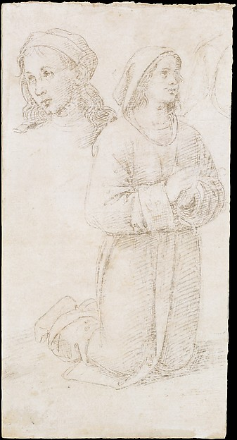Study of a Kneeling Youth and of the Head of Another