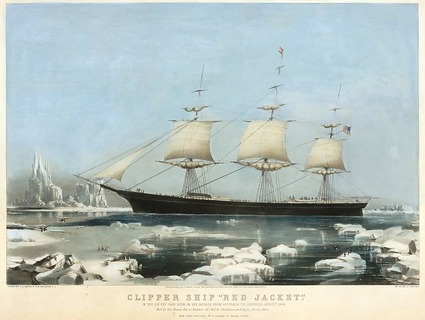 "Clipper Ship ""Red Jacket"" – In the Ice off Cape Horn, on Her Passage from Australia, to Liverpool, August 1854"