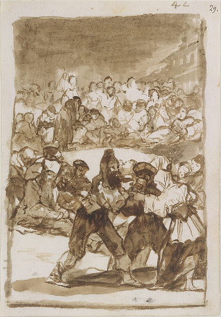 Crowd in a Circle; Images of Spain Album (F), page 42