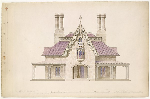 House for William J. Rotch, New Bedford, Massachusetts (front elevation)