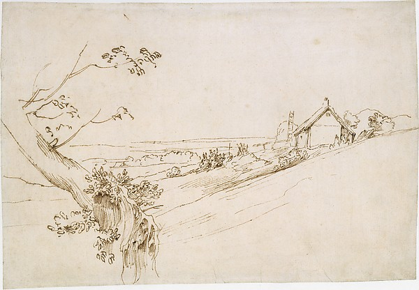 Landscape with a Gnarled Tree and a Farm