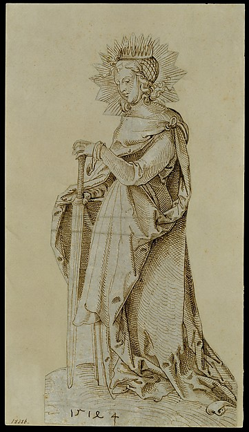 Saint Catherine Leaning on a Sword