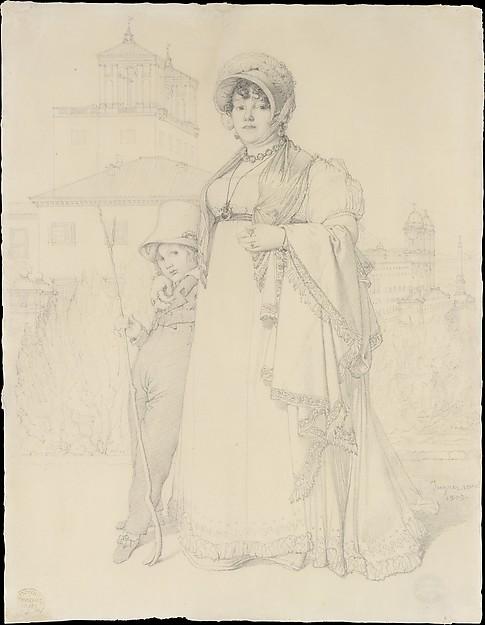 Madame Guillaume Guillon Lethière, née Marie-Joseph-Honorée Vanzenne, and her son Lucien Lethière