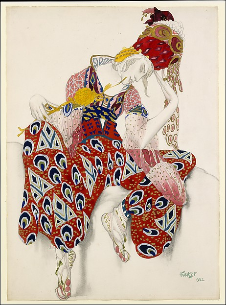 "Costume study for Nijinsky in the role of Iksender in the ballet, ""La Péri"""
