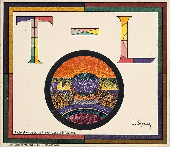 Application of Charles Henry's Chromatic Circle; Théâtre-Libre playbill of January 31, 1889