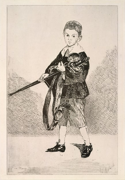 Boy with a Sword, Turned Left