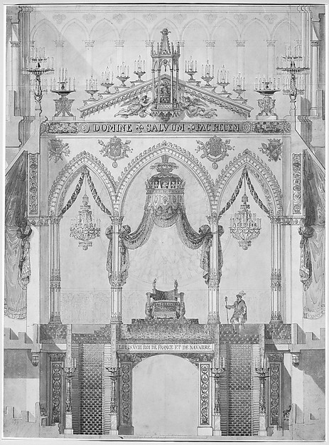 Elevation of Rood Screen with Throne of Louis XVIII, Reims Cathedral