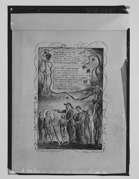 Songs of Innocence and of Experience: The Ecchoing Green (second plate)