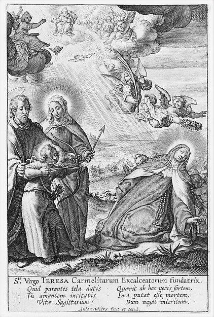 Fascinating Historical Picture of Antonius Wierix II with The Ecstasy of St. Teresa in 1622