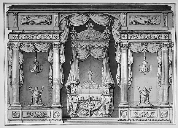 Design for a Canopy Bed in an Alcove