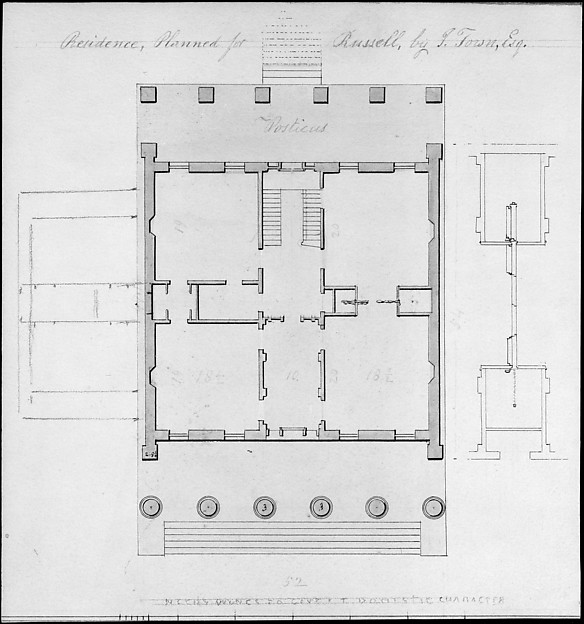 Residence, Planned for Russell, by I. Town, Esq.