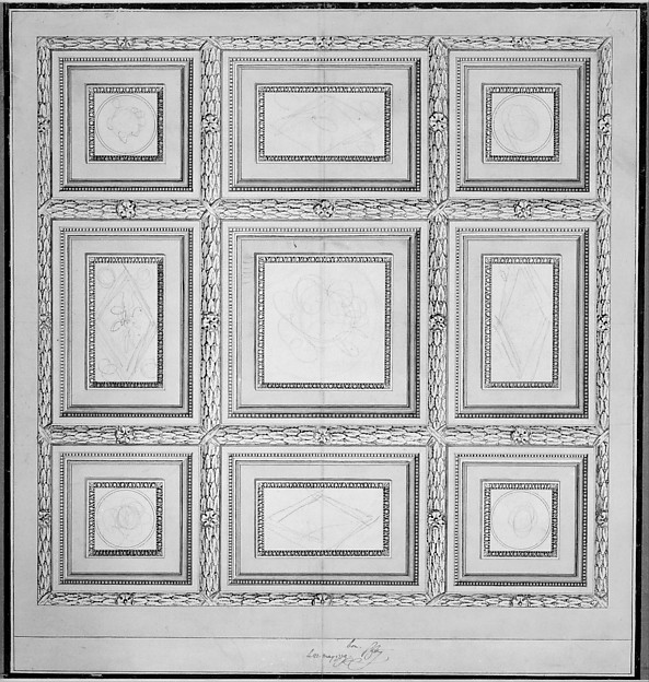 Study for the Ceiling of a Salon in the Hotel de Mazarin