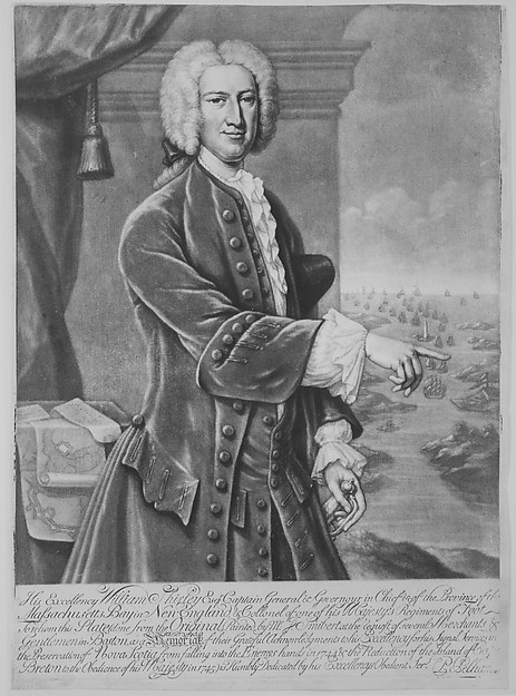 This is What Peter Pelham and William Shirley Governor of Massachusetts Looked Like  in 1747