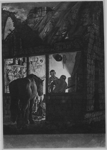 Fascinating Historical Picture of Joseph Wright with The Farriers Shop on 12/1/1771
