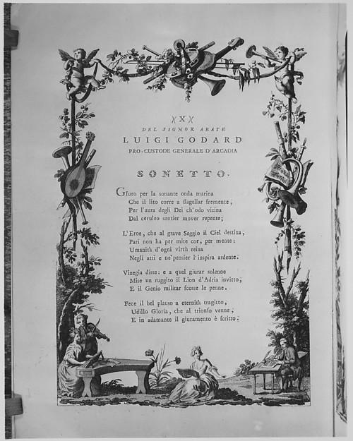 Poesie per l'ingresso solenne di sua eccellenza il signor Gio: Antonio Gabriel cavaliere, e cancellier grande