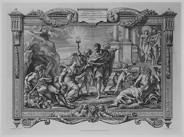 Annibale Carracci Introduces Painting to Apollo and Minerva