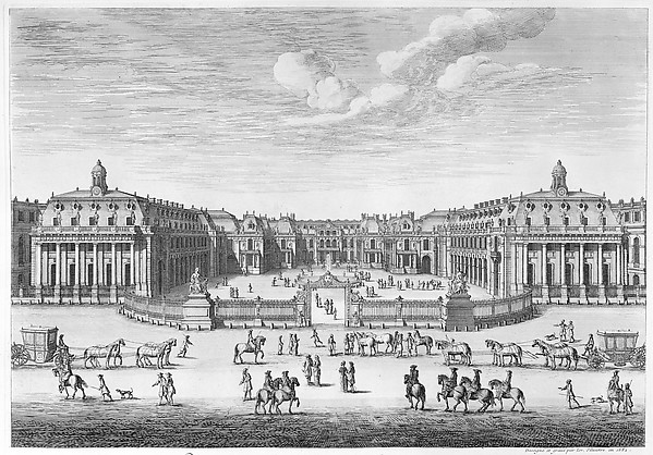 Château de Versailles seen from the forecourt
