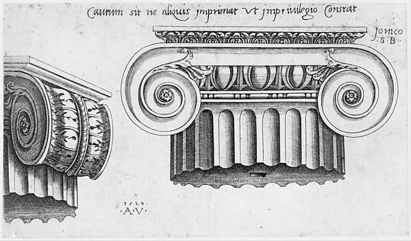 Speculum Romanae Magnificentiae: Ionic Capital