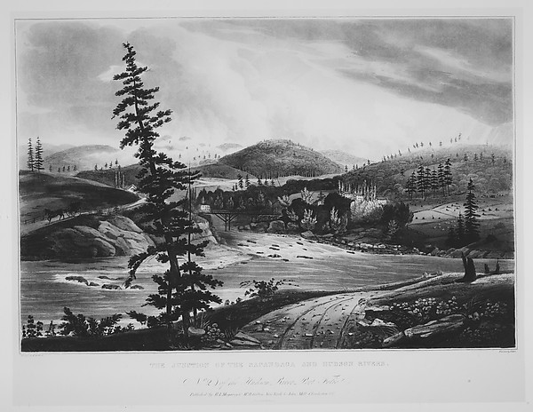 Junction of the Sacandaga and Hudson Rivers (The Hudson River Portfolio, plate 2)